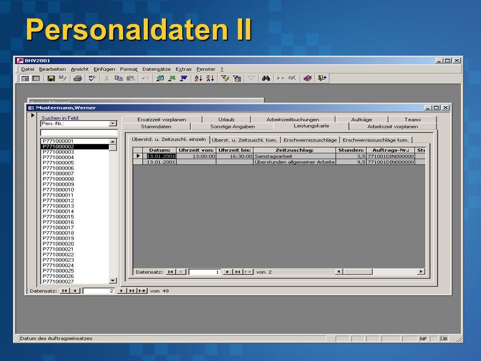 Personaldaten II