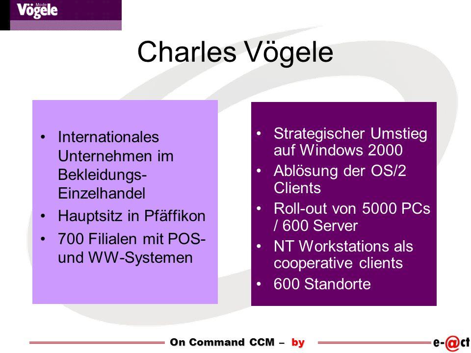 Charles Vögele Internationales Unternehmen im Bekleidungs- Einzelhandel Hauptsitz in Pfäffikon 700 Filialen mit POS- und WW-Systemen Strategischer Ums