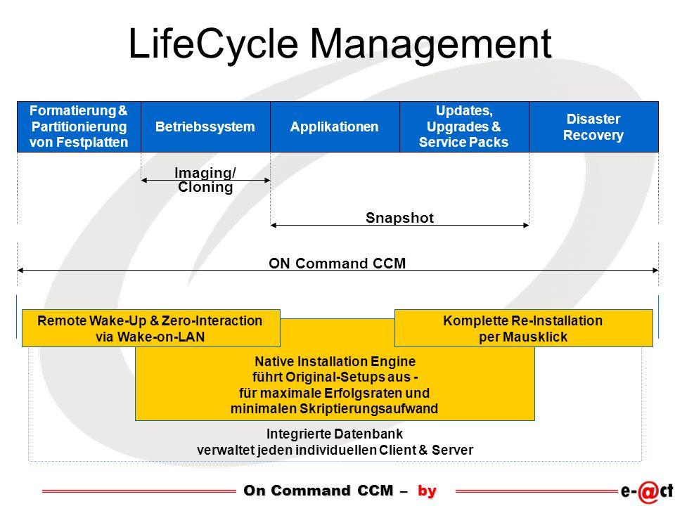 Integrierte Datenbank verwaltet jeden individuellen Client & Server Native Installation Engine führt Original-Setups aus - für maximale Erfolgsraten u