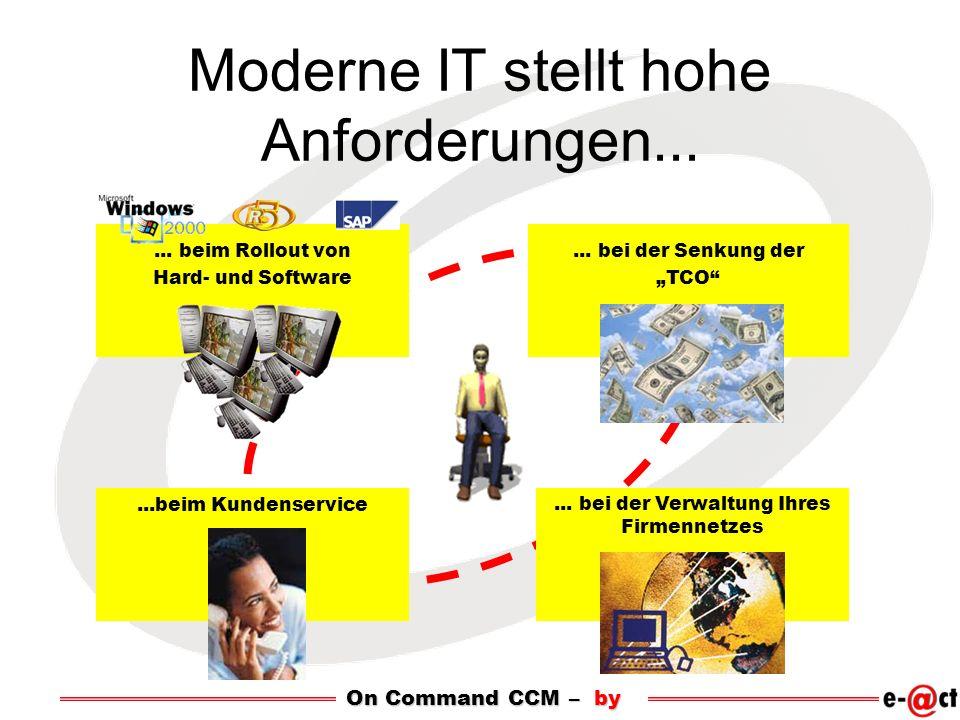 Moderne IT stellt hohe Anforderungen......bei der Senkung der TCO...beim Kundenservice...