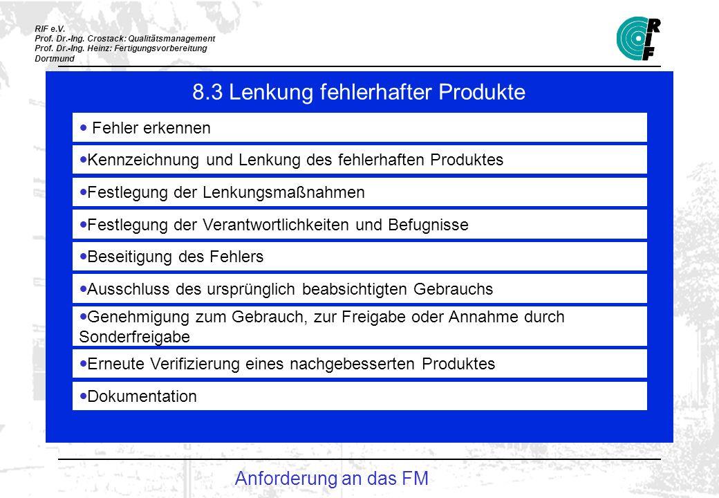 RIF e.V.Prof. Dr.-Ing. Crostack: Qualitätsmanagement Prof.