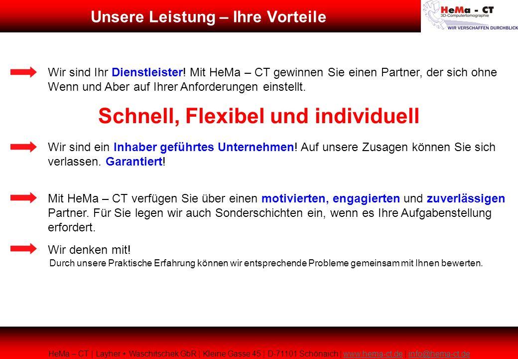 HeMa – CT | Layher + Waschitschek GbR | Kleine Gasse 45 | D-71101 Schönaich | www.hema-ct.de | info@hema-ct.dewww.hema-ct.deinfo@hema-ct.de Wir sind I