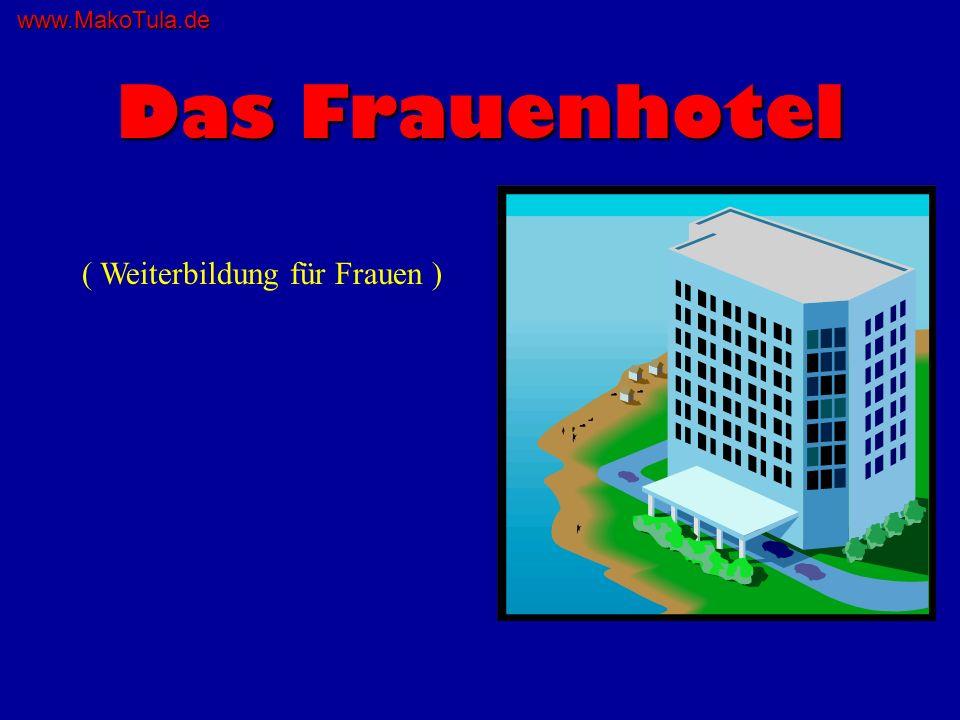 www.MakoTula.de Vorgeschichte Eine Schar von Frauen kommt an einem fünfstöckigen Hotel vorbei, welches mit Nur für Frauenangeschrieben ist.