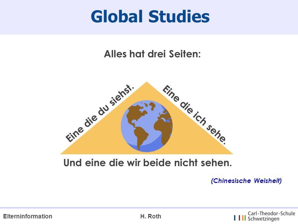 Global Studies H. RothElterninformation Eine die du siehst. Eine die ich sehe. Alles hat drei Seiten: Und eine die wir beide nicht sehen. (Chinesische