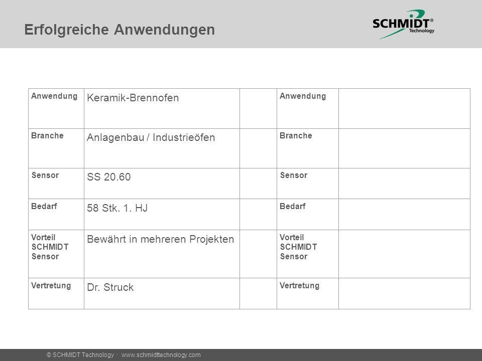 © SCHMIDT Technology · www.schmidttechnology.com Erfolgreiche Anwendungen Messung in den Zuluftrohren der Brenner