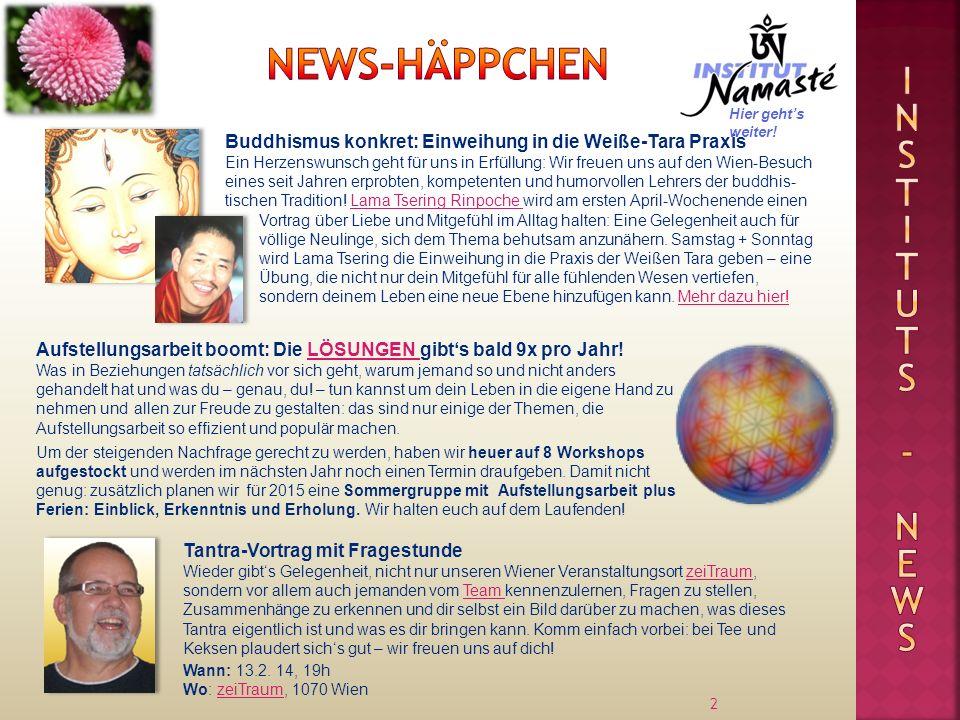 2 Tantra-Vortrag mit Fragestunde Wieder gibts Gelegenheit, nicht nur unseren Wiener Veranstaltungsort zeiTraum, sondern vor allem auch jemanden vom Te