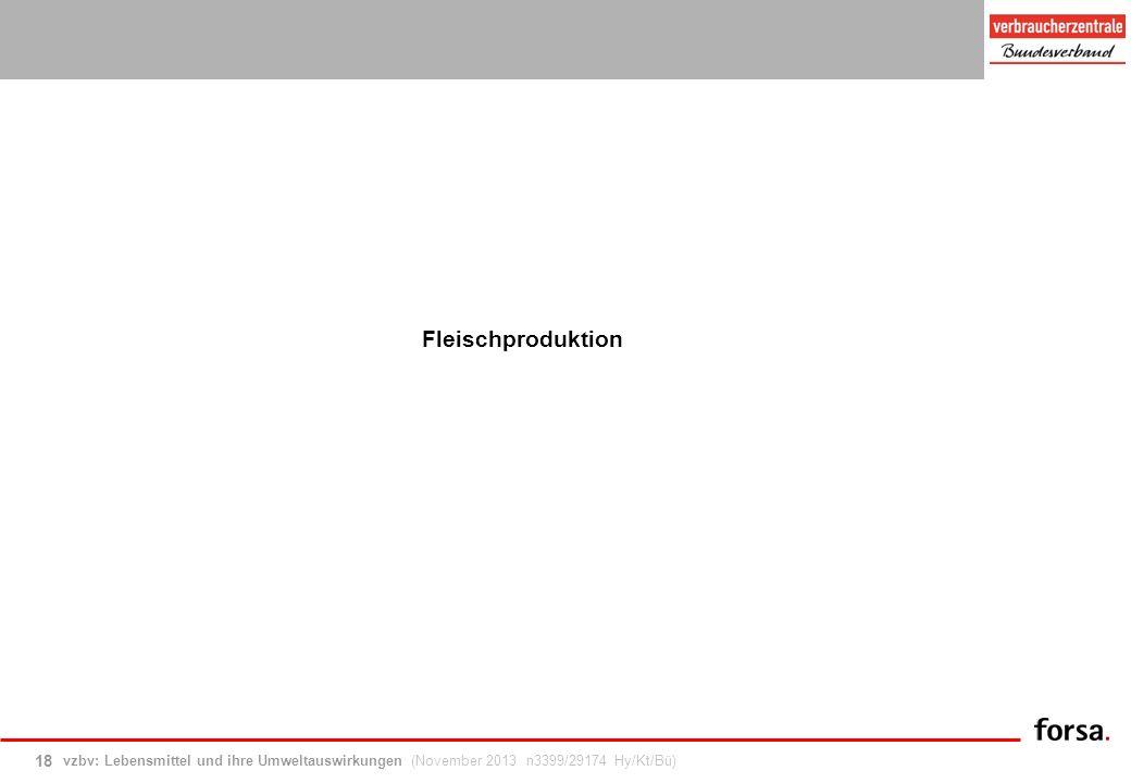 vzbv: Lebensmittel und ihre Umweltauswirkungen (November 2013 n3399/29174 Hy/Kt/Bü) 18 Fleischproduktion