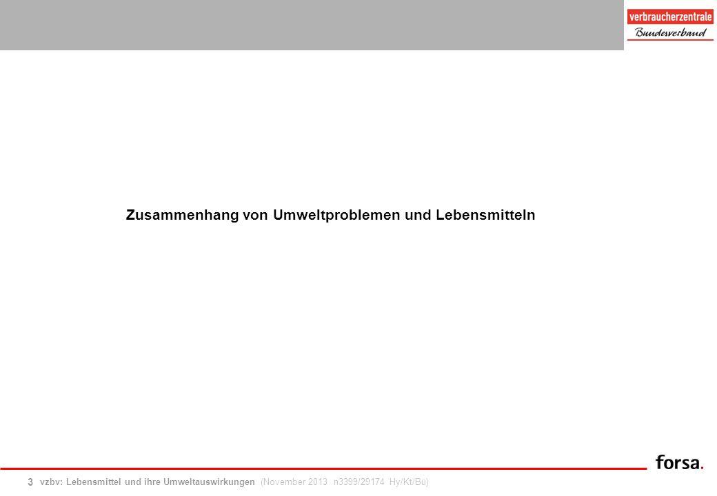 vzbv: Lebensmittel und ihre Umweltauswirkungen (November 2013 n3399/29174 Hy/Kt/Bü) 24 Akteure: Einfluss und Vertrauen