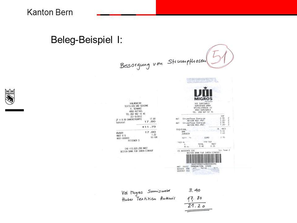 Kanton Bern Beleg-Beispiel I: