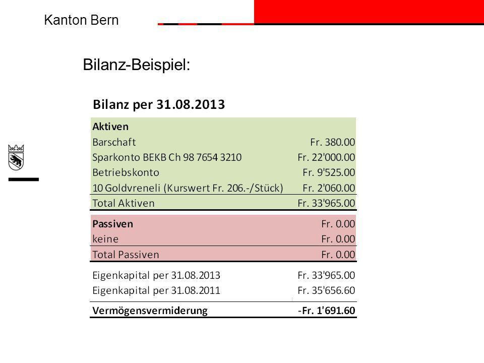 Kanton Bern Bilanz-Beispiel: