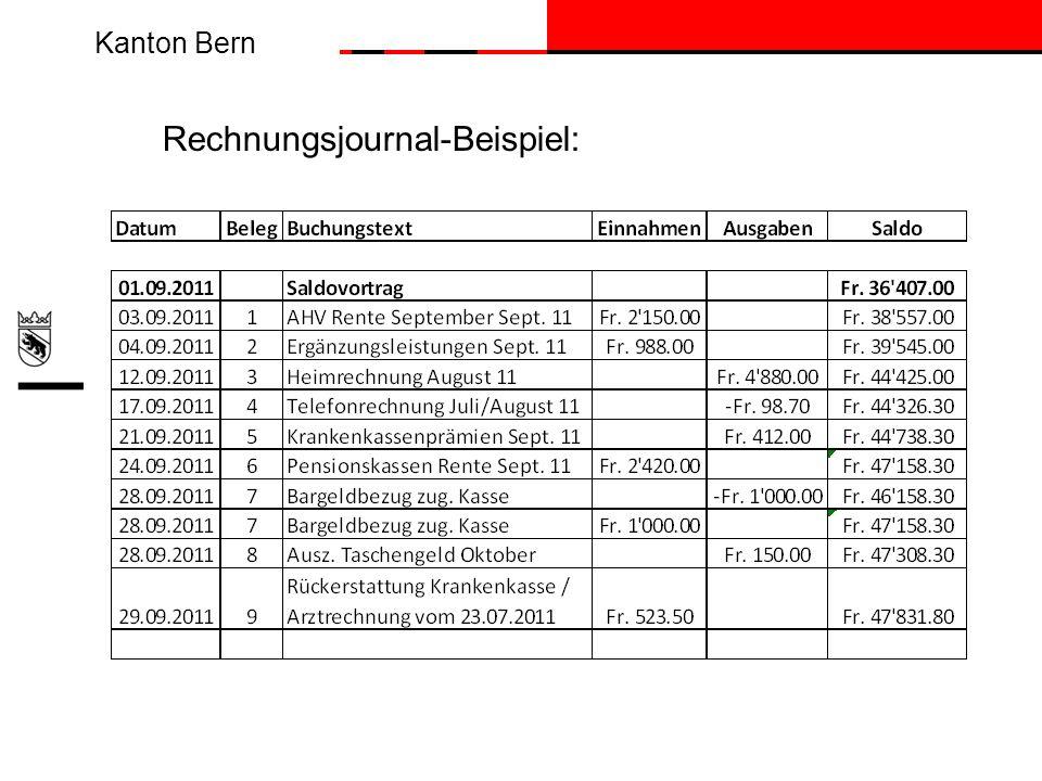 Kanton Bern Rechnungsjournal-Beispiel: