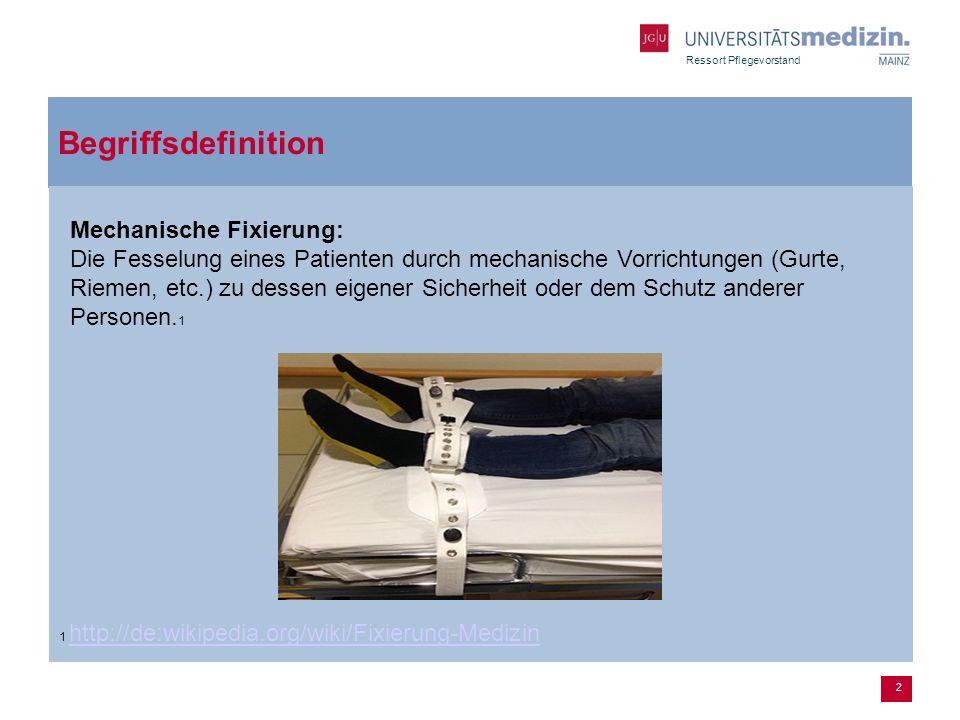 2 Begriffsdefinition 1 http://de:wikipedia.org/wiki/Fixierung-Medizin http://de:wikipedia.org/wiki/Fixierung-Medizin Mechanische Fixierung: Die Fessel