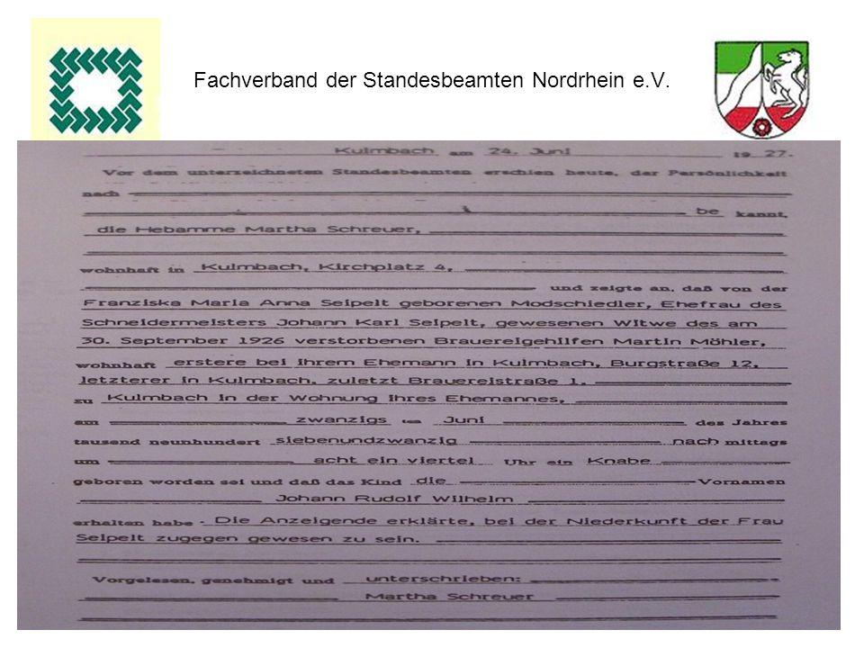 20 Fachverband der Standesbeamten Nordrhein e.V.