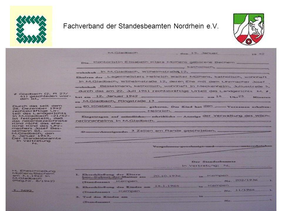 21 Fachverband der Standesbeamten Nordrhein e.V.