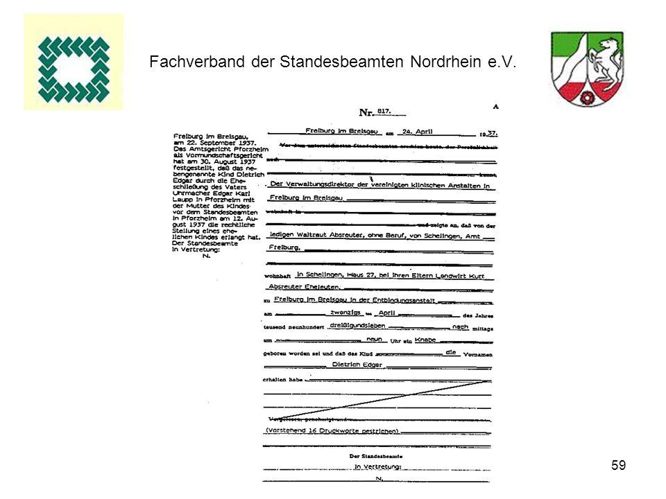 59 Fachverband der Standesbeamten Nordrhein e.V.