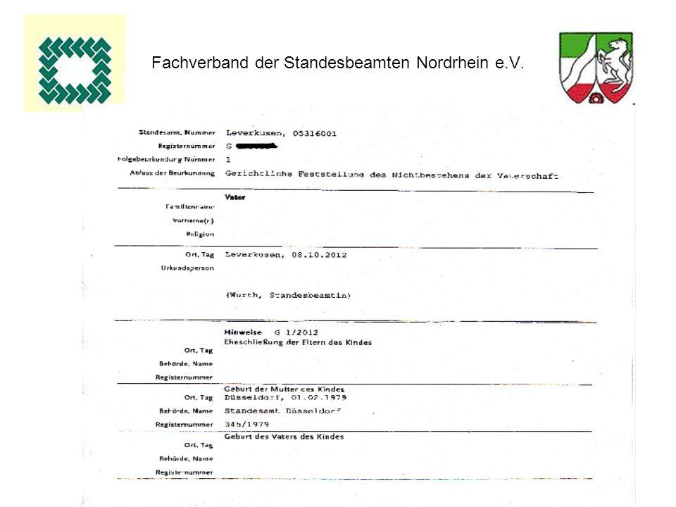 64 Fachverband der Standesbeamten Nordrhein e.V.