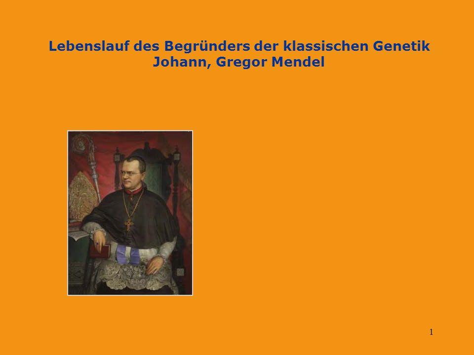2 Johann, Gregor Mendel Angaben zur Person Schulische Ausbildung Akademische Ausbildung Kirchliche Aktivitäten Forschungsaktivitäten