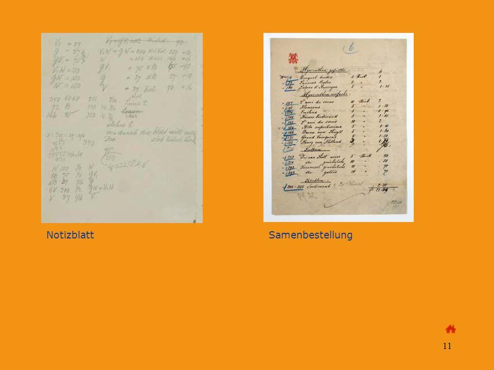 11 Notizblatt Samenbestellung