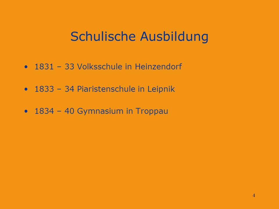 5 Kirchliche Aktivitäten 1843 Eintritt in Augustinerorden in der Abtei St.