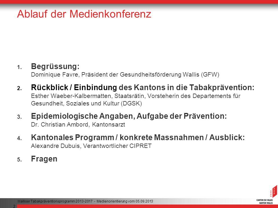 2 Ablauf der Medienkonferenz 1.