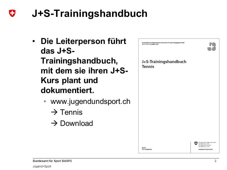 13 Bundesamt für Sport BASPO Jugend+Sport Die perfekte Ergänzung Handliches Unterrichtstool.
