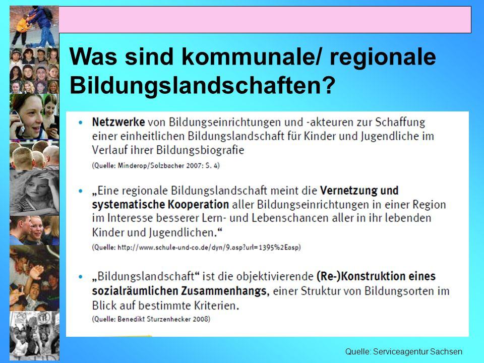 Was sind kommunale/ regionale Bildungslandschaften? Quelle: Serviceagentur Sachsen
