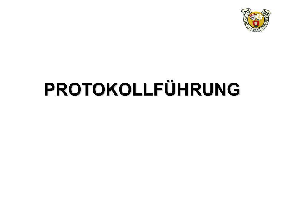 PROTOKOLLFÜHRUNG