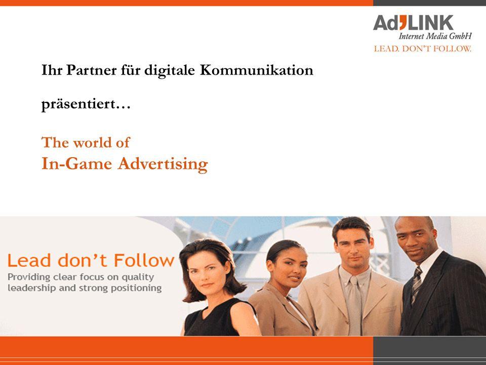 3 – Werbemöglichkeiten INHALT 1 – Ausgangssituation 4 – Messbarkeit 2 – Gaming Marktübersicht 5 – Kundenspezifische Beispiele 6 – Fazit 1 – Ausgangssituation