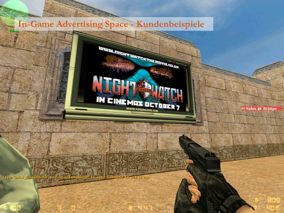 In-Game Advertising Space - Kundenbeispiele
