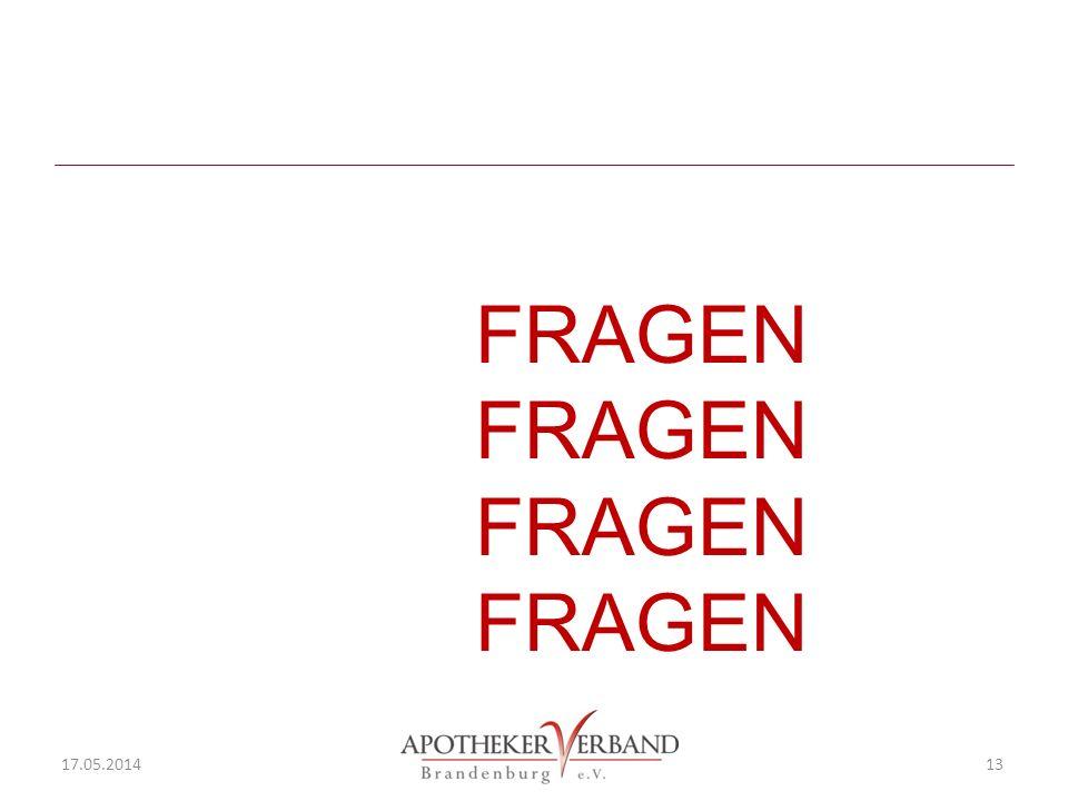 FRAGEN FRAGEN 17.05.2014 13