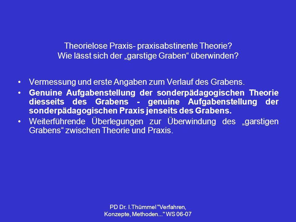PD Dr.I.Thümmel Verfahren, Konzepte, Methoden... WS 06-07 Konzeptueller Reflexionsprozess 4.