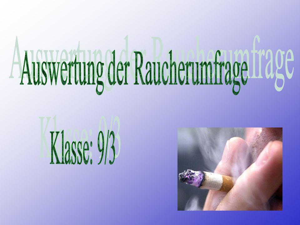 Raucher oder Nichtraucher? Das ist hier die FRAGE!