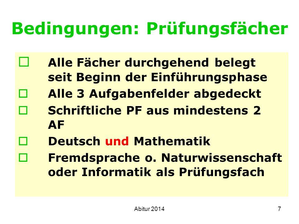 38 Berechnung der Gesamtnote Abitur 2014 GK Bereich 24 Gk einfach18 von 24 mindestens 05 P.