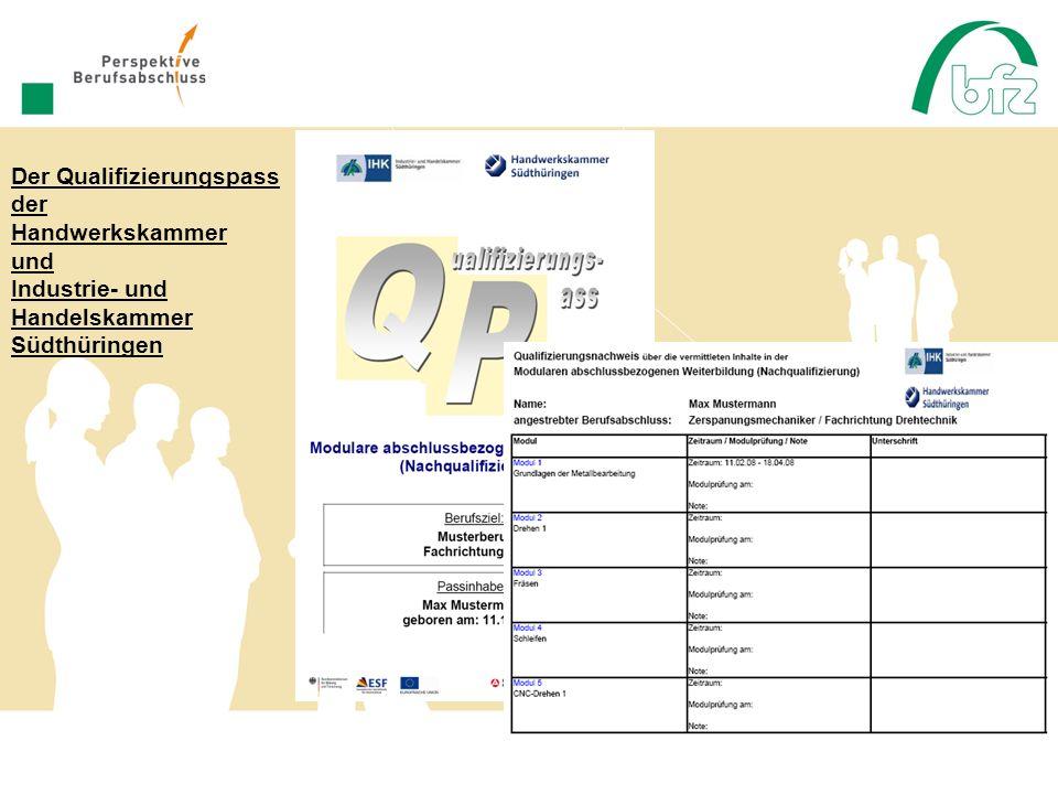 Der Qualifizierungspass der Handwerkskammer und Industrie- und Handelskammer Südthüringen