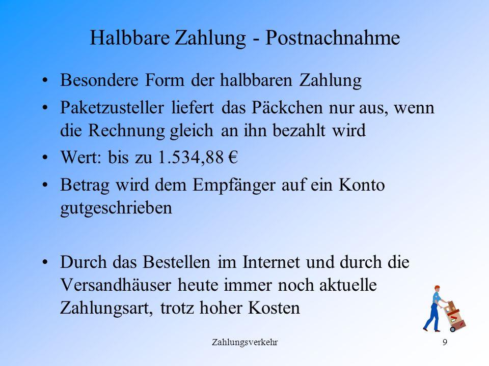 Zahlungsverkehr8 Übung zum Zahlschein Die Firma Kiosk GmbH möchte an die Lakneese AG ihre Verbindlichkeiten begleichen. Die Kiosk GmbH besitzt noch ke