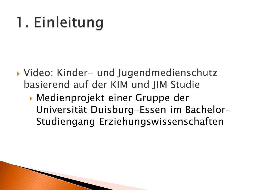 Video: Video: Kinder- und Jugendmedienschutz basierend auf der KIM und JIM Studie Medienprojekt einer Gruppe der Universität Duisburg-Essen im Bachelor- Studiengang Erziehungswissenschaften