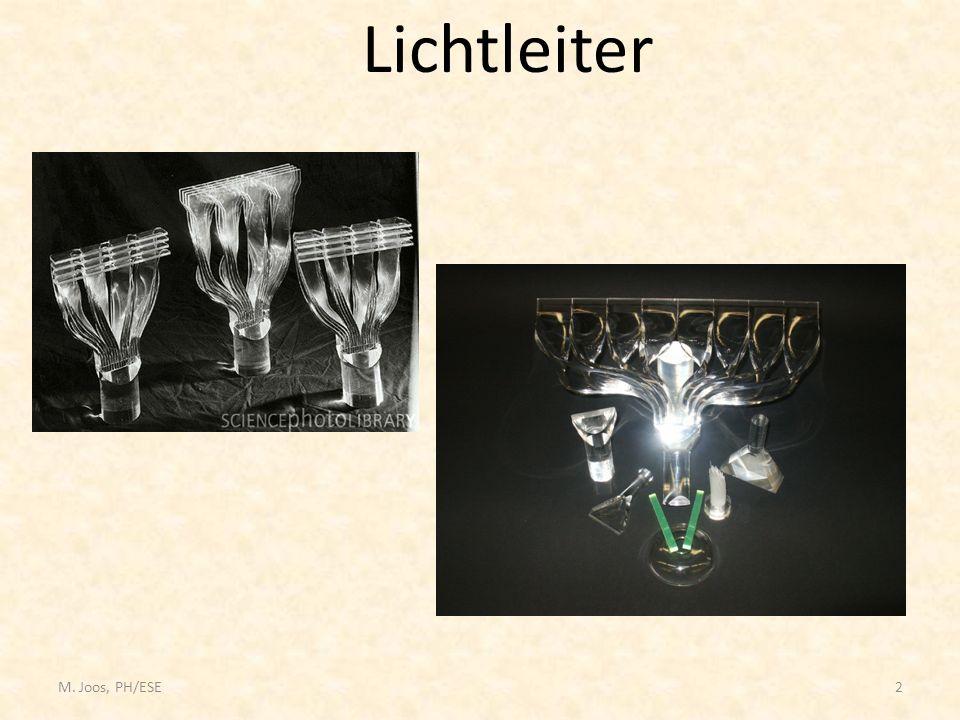 M. Joos, PH/ESE2 Lichtleiter