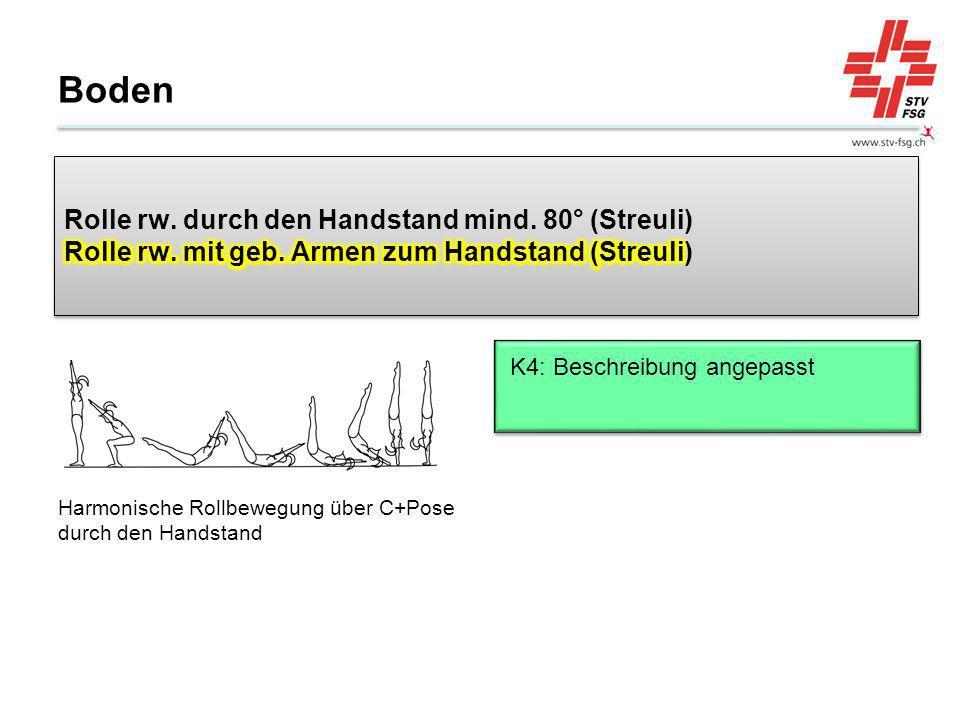 Boden Harmonische Rollbewegung über C+Pose durch den Handstand