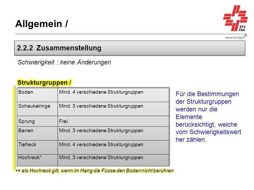 Barren (hoch): Abgang Der Holmen darf für den Stand nicht gehalten werden; - ansonsten Abzug von 0.20 Pkt.