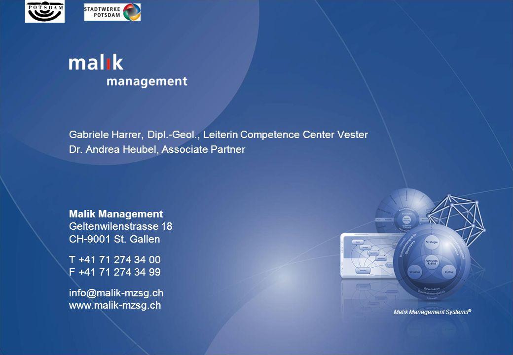 Malik Management Geltenwilenstrasse 18 CH-9001 St.