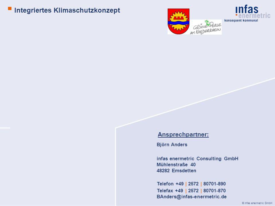 © infas enermetric GmbH Björn Anders infas enermetric Consulting GmbH Mühlenstraße 40 48282 Emsdetten Telefon +49 | 2572 | 80701-890 Telefax +49 | 257