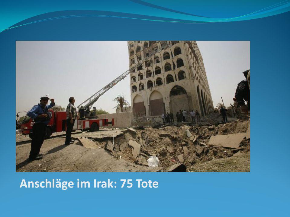 Anschläge im Irak: 75 Tote