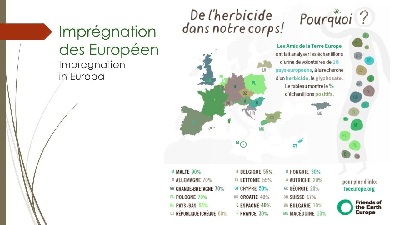 Imprégnation des Européens Impregnation in Europa