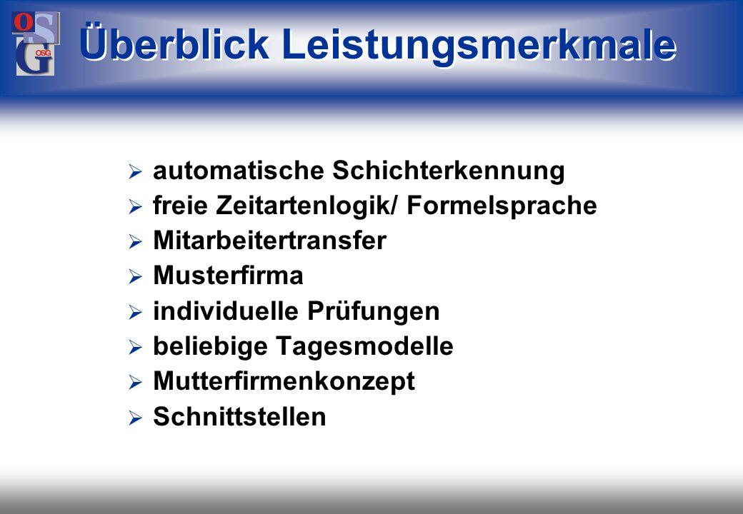 OSG 31 Zeitdaten Lohn- bewegungen Lohn- bewegungen KuG-Antragslisten Abrechnung für das Arbeitsamt für die Krankenkassen Zeitkonto Lohnkonto Kurzarbei