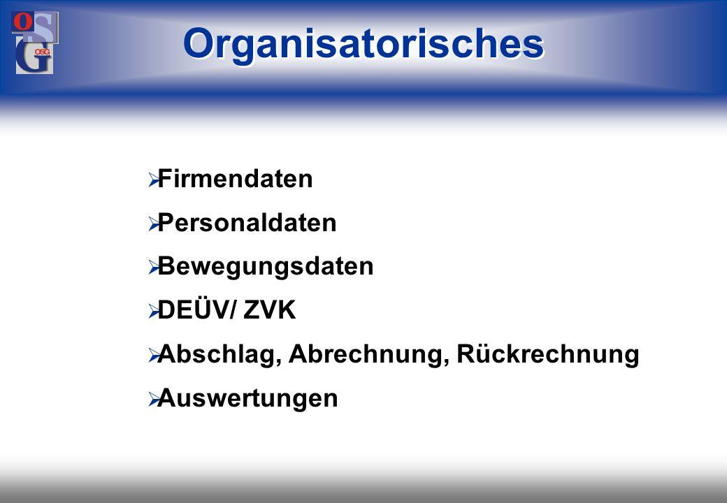 OSG 3 Zeit- erfassung Zeit- erfassung Prämienlohn Bescheinigungs- wesen* Bescheinigungs- wesen* Personalkosten- hochrechnung Personalkosten- hochrechn
