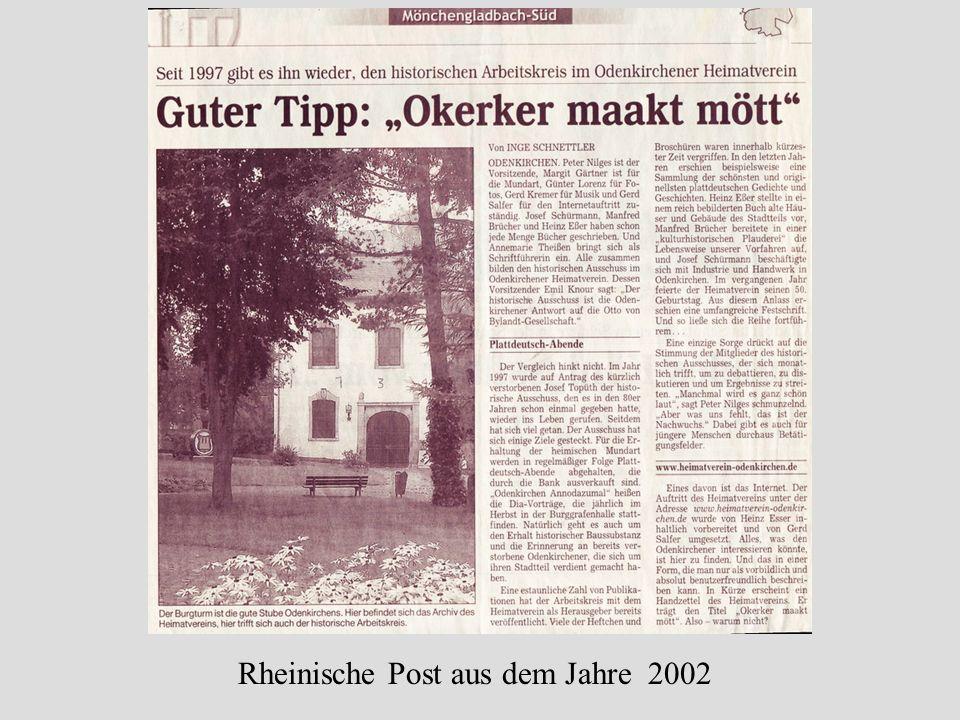 Rheinische Post aus dem Jahre 2002