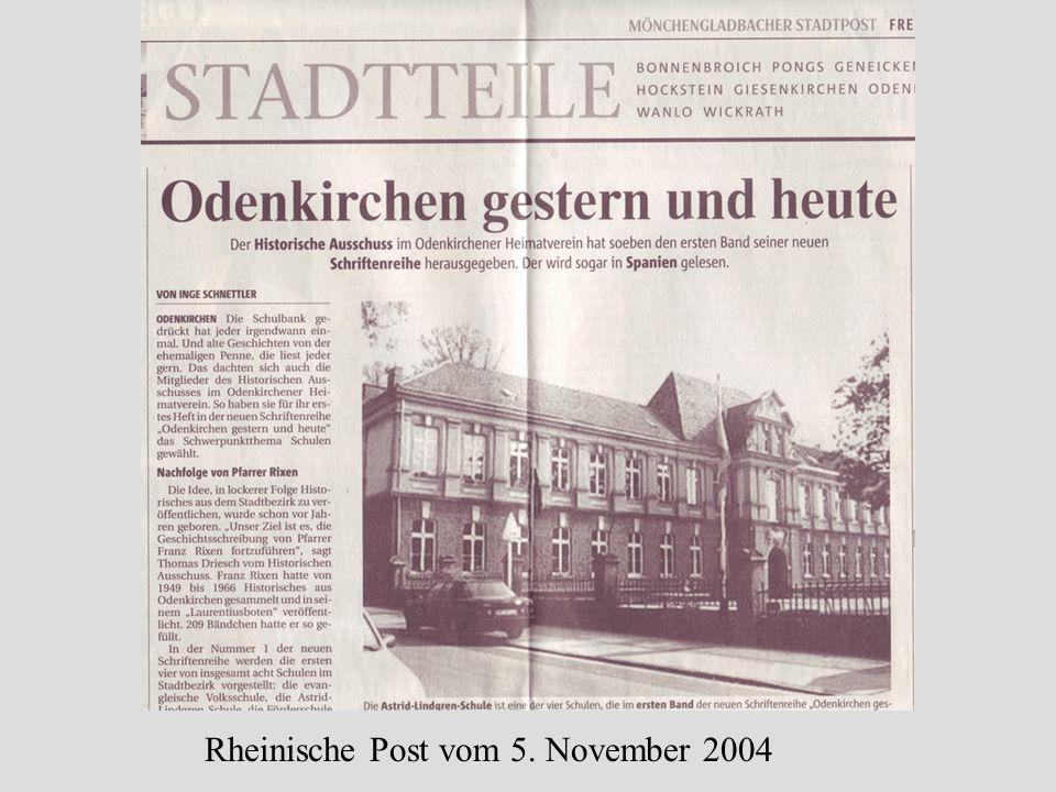 Rheinische Post vom 5. November 2004