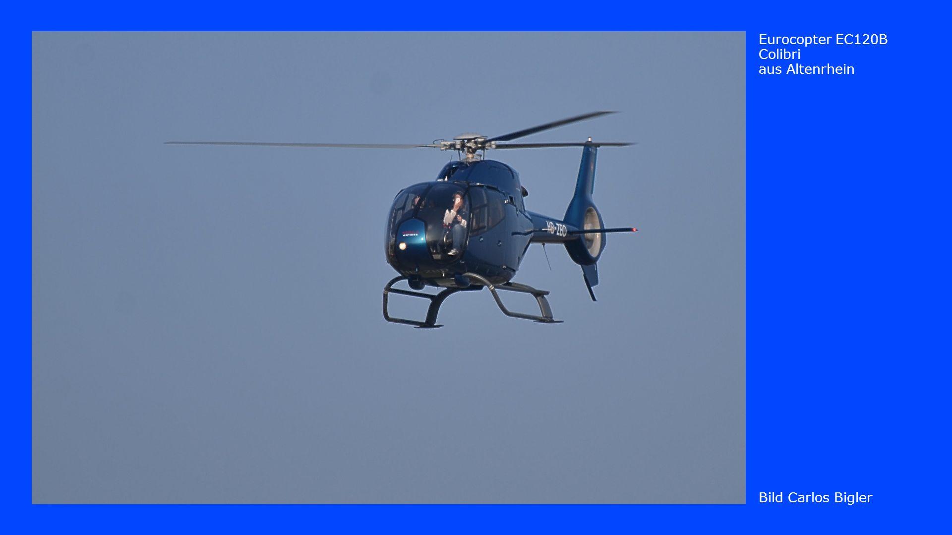 Bild Carlos Bigler Eurocopter EC120B Colibri aus Altenrhein