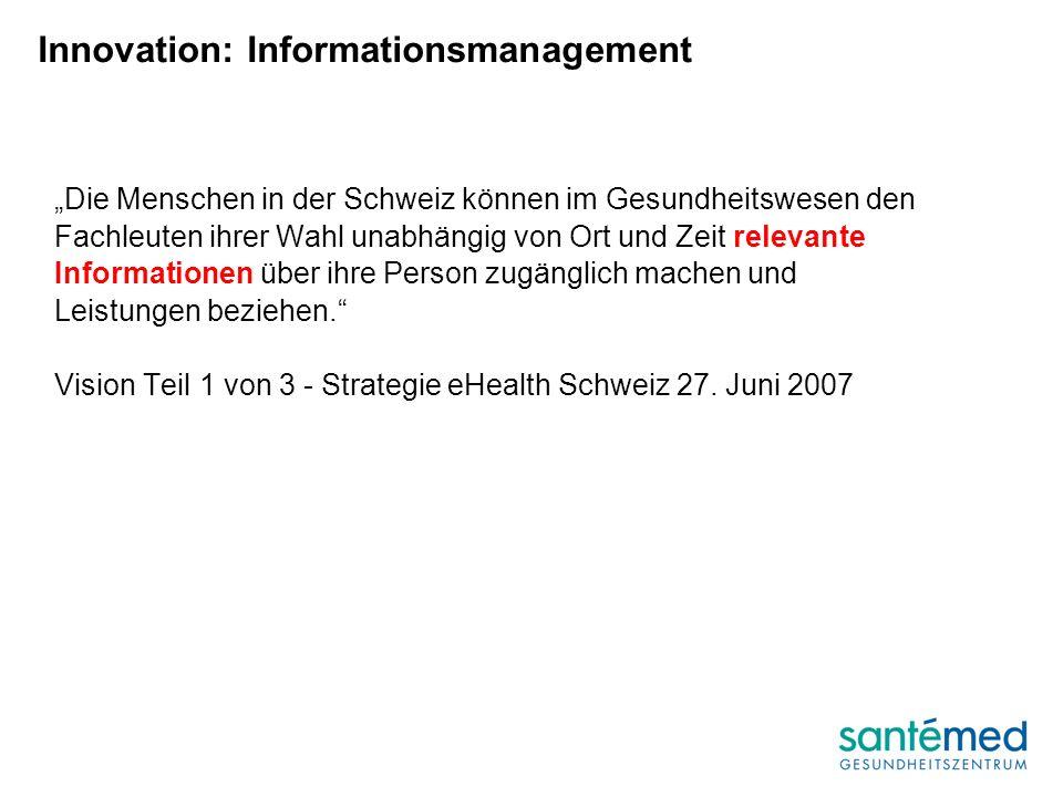 Die Menschen in der Schweiz können im Gesundheitswesen den Fachleuten ihrer Wahl unabhängig von Ort und Zeit relevante Informationen über ihre Person