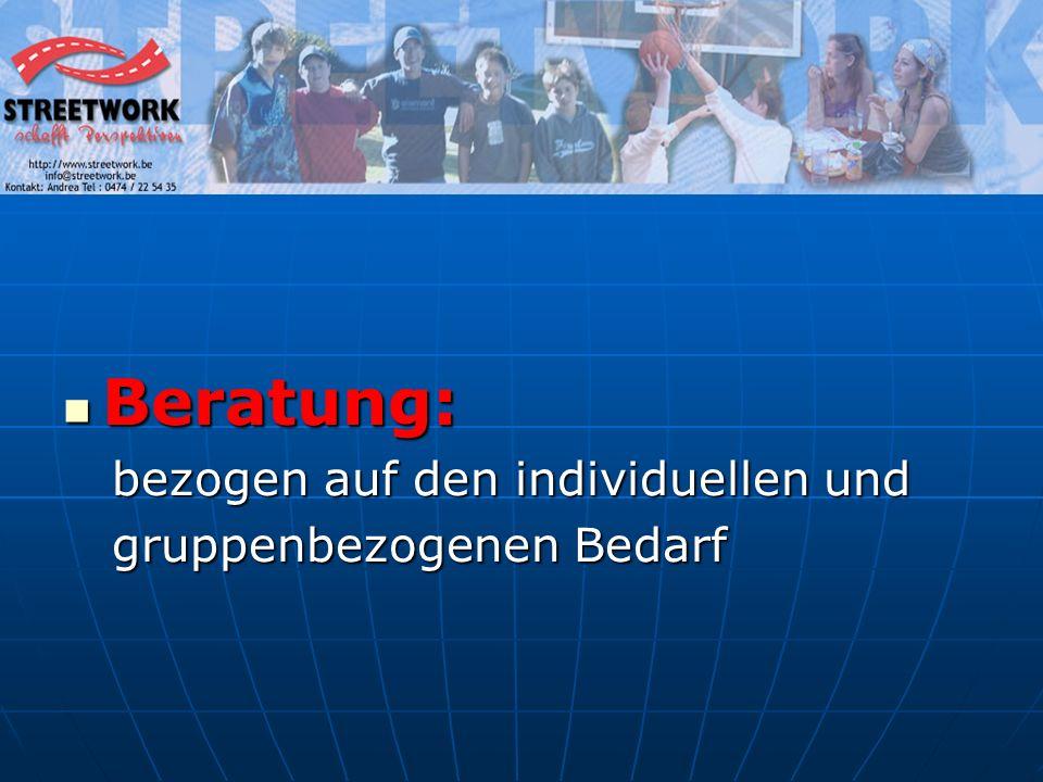 Gruppenarbeit Interessenvertretung der Jugendlichen soziale KompetenzSelbstkompetenzFörderung Akzeptanz Schaffung von öffentlichem Raum Förderung Toleranz